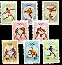 680 ROMANIA SPORT 1968 OLYMPIC GAMES MEXICO SET x 8 STAMPS MNH