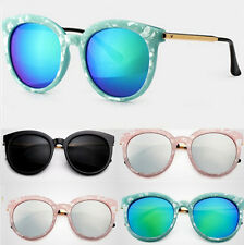 Sunglasses New Oversized Womens Retro Vintage Shades Round Frame Eyewear