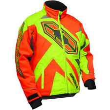Castle X™ Youth Boys Launch Insulated Snowmobile Jacket - Orange/Hi-Vis - 72-435