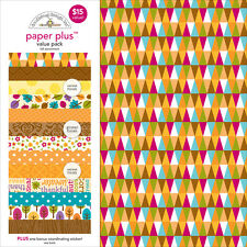 Doodlebug Paper Plus Value Pack 12 Inch X 12 Inch 12/Pkg-Fall 842715051799