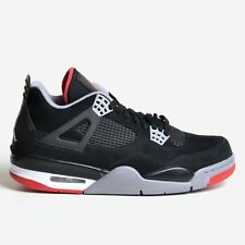 AIR JORDAN 4 RETRO IV BLACK 2012 CEMENT GREY FIRE RED WHITE BRED NIB 308497-089