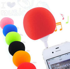 5.5mm MP3 iPod Music iphone Portable Speaker PC Sponge Ball Mini Cell Phone New