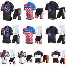 Outdoor Short Sleeve Bicyle Cycling Costume Suits Men's Sport Jersey & Pants