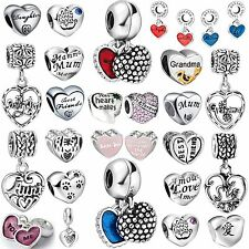 Hot Design Fashion Letter Bead 925 Sterling Silver Charms Fit 3mm Bracelet Chain