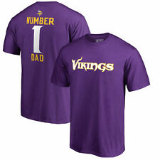 Minnesota Vikings Pro Line Number 1 Dad T-Shirt - Purple - NFL