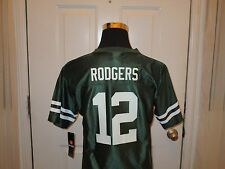Brand New with Tags Green Bay Packers Aaron Rodgers #12 Green Youth Mesh Jersey