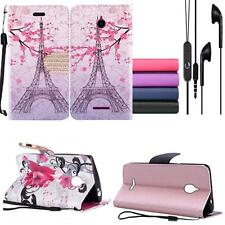 For AT&T Alcatel Ideal Gophone Wallet Case Cover Earphone Headphone w/Mic