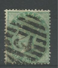 1855/7 Sg 72, 1/- Green, fine used.