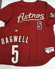 JEFF BAGWELL ASTROS AUTHENTIC BRICK RED TEAM ISSUE JERSEY MAJESTIC PICK SIZE NEW