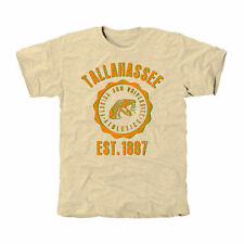 Florida A&M Rattlers Old-School Seal Tri-Blend T-Shirt - White - College