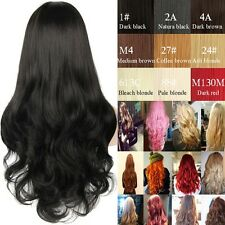 Soft as Remy Hair Full Wig Long Thick Straight Curly Synthetic Hair Ombre Wigs