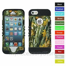 iPhone SE,iPhone 5s 5 Camo Camouflage RKR Hard&Rubber Rugged Phone Case Cover