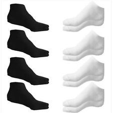 1Pairs Trainer Liner Ankle Socks Mens Womens Cotton Rich Sport White Gray Black
