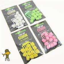 FTD 2 x KORDA Carp Fishing Bait Pop Up Corn & Maize with Hair Stops All Flavours