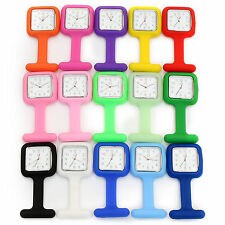 NEW Silicone Pocket Nurse Watch Brooch Pendant Tunic Fob Doctor Medical Watches