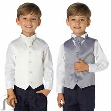 Boys Waistcoat Suit, Page Boys Suits, Boys Wedding Suit, Navy Trousers