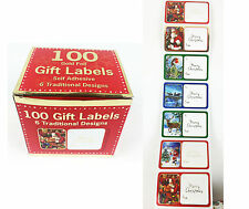 100 Pack Christmas Gift Tags Labels Stickers Gift Tags Present Labels Christmas