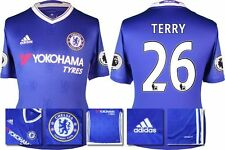 *16 / 17 - ADIDAS ; CHELSEA HOME SHIRT SS + PATCHES / TERRY 26 = SIZE*