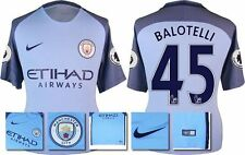 *16 / 17 - NIKE ; MAN CITY HOME SHIRT SS + PATCHES / BALOTELLI 45 = SIZE*