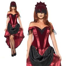 Venetian Temptress Costume Ladies Carnival Fancy Dress Costume Sizes 8-18