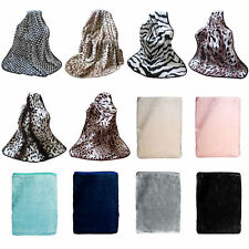 Extra Large Animal Faux Mink Thick Pile Throw Rug Blanket Bed Runner 150x200cm