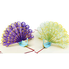 3D Pop Up Greeting Card Peacock Birthday Easter Anniversary Mother's Day Thanks0
