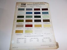 1973 LINCOLN RINSHED-MASON PAINT CHIPS  LINCOLN CONTINENTAL MARK IV THUNDERBIRD