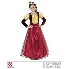 Girls Medieval Princess Costume Outfit for Middle Ages Fancy Dress