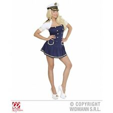 Ladies Womens Navy Captain Girl Costume Outfit for Sea Sailor Fancy Dress