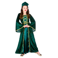 Girls Medieval Tudor Princess Costume for Royal Fancy Dress Kids Childs