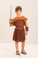 Boys Roman Soldier Costume for Gladiator Centurion Sparticus Fancy Dress Outfit