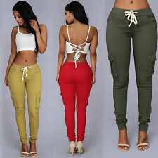 Women Casual Pencil Stretch Skinny Pants Sexy High Waist Jeans Trousers New Top