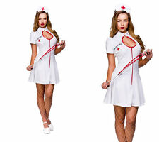 Naughty Nurse Ladies Hen Night Fancy Dress Costume Nurses Outfit 6/24