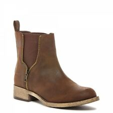 Rocket Dog CAMILLA Ladies Womens Stylish Gusset Winter Ankle Chelsea Boots Brown