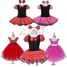 Halloween Baby Toddler Girls Minnie Mouse Cosplay Costume Party Tutu Fancy Dress