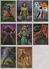 1993 MARVEL MASTERPIECES SPECTRA-ETCHED 2099 X-Men INSERT/CHASE 8 CARD SET