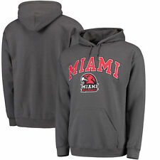 Miami University RedHawks Campus Pullover Hoodie - Charcoal - College