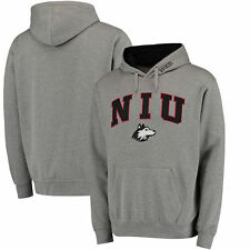 Northern Illinois Huskies Arch & Logo Pullover Hoodie - Gray - College