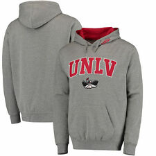 UNLV Rebels Arch & Logo Pullover Hoodie - Gray - College