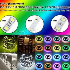 5M 300leds 3528 5050 5630 3014 SMD LED Strip Lights Tape For Xmas Home Garden