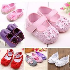 0-12 Size Baby Infant Soft Sole Shoes Girls Toddler Crib Sneakers Good Prewalker