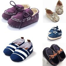 0-18M Baby Toddler Infant Soft Sole Shoes Boys Girls Crib Casual Loafers 3 Size