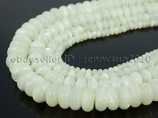 Natural White Mother Of Pearl MOP Shell Rondell Beads 15.5'' 4mm 6mm 8mm 10mm