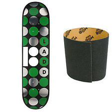 PLAN B Skateboard Deck LADD DOTS 8 with MOB Griptape