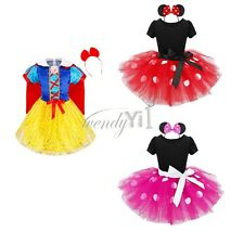 Girls Kids Minnie Mouse Halloween Costume Outfits Party Fancy Dress Up Clothes