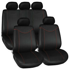 Car Van Full Seat Covers Set 2x Front + 1x Rear + 5x Head Rest Covers Universal