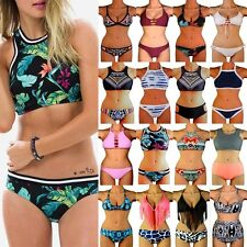 New Hot Women Bandage Push-up Bikini Set Padded Bra Triangle Swimsuit Swimwear F