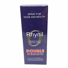 Rhynil Double Strength - NEW Stop Snoring Herbal Spray Max Maximum
