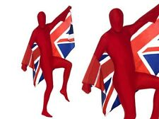 Red Skin Costume Mens Stag Night Lycra Bodysuit Fancy Dress Outfit