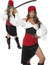 Sassy Pirate Wench Costume Ladies Pirates Fancy Dress Outfit 8-18